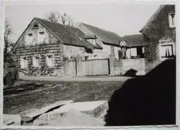 1955, hinter dem Haus die Kastanien vor der Kapelle
